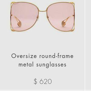 Gucci Oversized metal Frame Sunglasses